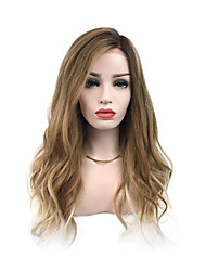 cheap -Synthetic Wig Curly Wavy Side Part With Bangs Wig Blonde Ombre Long Flaxen Synthetic Hair 26 inch Women's Party Classic Synthetic Blonde Ombre