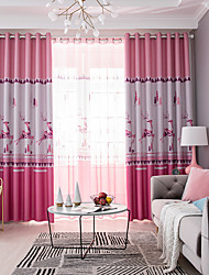 cheap -Modern Privacy Two Panels Curtain Bedroom   Curtains / Jacquard