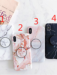 cheap -Phone Case For Apple iPhone 12 Pro Max / iPhone 12 Mini / iPhone 11 Pro Max / iPhone SE2020 / iPhone XR / iPhone XS Max with Stand / IMD / Frosted Back Cover Marble TPU