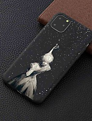 cheap -Case For Apple iPhone 11 / 11 Pro / 11 Pro Max Frosted / Pattern Back Cover Star Girl TPU for iPhone 6 / 6S Plus / 7 / 7 Plus / 8 / 8 Plus / X / XS / XR / Xs Max
