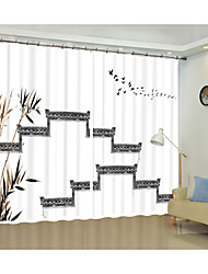 cheap -Swallow Digital Printing 3d Curtain Shading Curtain High Precision black Silk Cloth High Quality Level Shading Bedroom Living Room Curtain
