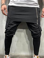 cheap -Men's Basic Cotton Chinos Pants - Solid Colored Layered Classic Black Green Dark Gray US32 / UK32 / EU40 / US34 / UK34 / EU42 / US36 / UK36 / EU44 / Elasticity
