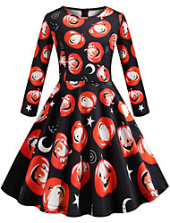 cheap -Audrey Hepburn Dress Party Costume Kid's Girls' Retro Vintage Halloween Halloween Festival / Holiday Polyster Black Carnival Costumes