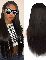 cheap -Human Hair Unprocessed Virgin Hair Full Lace Wig Free Part style Brazilian Hair Natural Straight Natural Wig 150% Density Party Classic Sexy Lady Hot Sale Thick Women's Long Cosplay Suits Tea Party