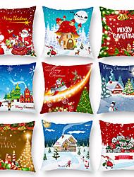 cheap -Christmas Snowman Old Man Festival Pillow Summer Lightweight Sofa Pillow Case by Waist Pillow Car Pillow Case