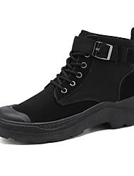 cheap -Men's Combat Boots PU Fall Casual Boots Non-slipping Mid-Calf Boots Black / Gray / Khaki
