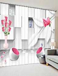 cheap -White Three-Dimensional Square Pattern Digital Printing 3D Window Shade Curtain High Precision Black Silk Fabric High Quality Curtain