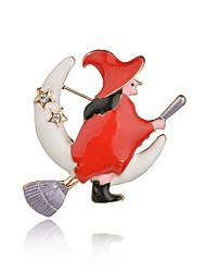 cheap -Women's Brooches Classic Christmas Tree Classic Casual / Sporty Ethnic Folk Style Brooch Jewelry Leaf Gold For Christmas Party Gift