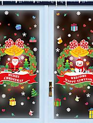 Недорогие -Оконная пленка и наклейки Украшение С узором / Рождество Праздник / Персонажи ПВХ Стикер на окна / Стикер на двери