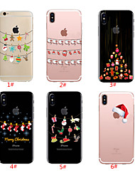 cheap -Case For Apple iPhone 11 / iPhone 11 Pro / iPhone 11 Pro Max Translucent / Pattern Back Cover Christmas TPU