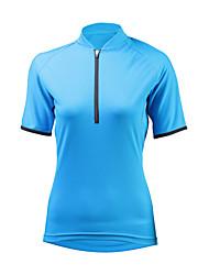 cheap -ILPALADINO Women's Short Sleeve Cycling Jersey Sky Blue Bike Jersey Mountain Bike MTB UV Resistant Moisture Wicking Quick Dry Sports Winter Elastane Terylene Clothing Apparel