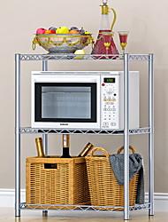 Недорогие -кухонный стеллаж для микроволновой печи, 3-х уровневая регулируемая полка из нержавеющей стали