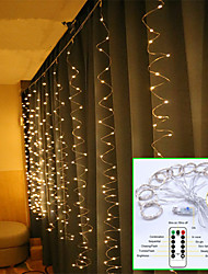 cheap -1set 3x3m 300 LED Lights Romantic Christmas Wedding Decoration Outdoor Curtain String Light Remote-control 8 modes USB Lamp