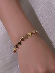 cheap -Women's Bracelet Geometrical Precious Simple Casual / Sporty Fashion Alloy Bracelet Jewelry Gold / Silver For Daily Street Work