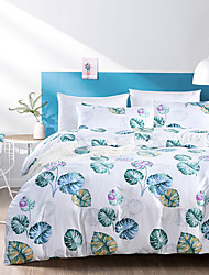 cheap -Duvet Cover Sets Trees / Leaves Polyester / Polyamide Reactive Print / Printed 3 PieceBedding Sets