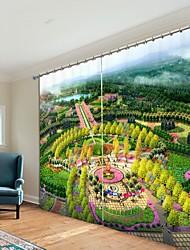 abordables -carré de jardin impression numérique 3d rideau ombrage rideau haute précision noir tissu de soie rideau de haute qualité