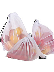 cheap -3pcs  Mesh Bag Vegetable And Fruit Net Bag Polyester Mesh Splicing Mesh Bag Reusable Kitchen Storage Products Organizer