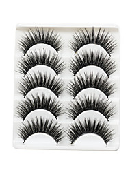 cheap -5 Pairs 3d Mink Lashes Bulk False Eyelashes Natural/Thick Long Eye Lashes Wispy Makeup Beauty Extension Tools