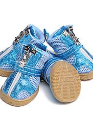 abordables -Chiens Chaussures & Bottes Noël Animal Vacances Mode Pour les animaux domestiques Maille Fuchsia