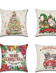 cheap -Cartoon Christmas Hug Pillowcase Christmas Tree Santa Claus Car Linen Digital Printing