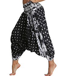 cheap -Women's Yoga Pants Harem Fashion Black White Purple Green Light Purple Dance Fitness Gym Workout Bloomers Sport Activewear Breathable Quick Dry Soft Loose / Winter / Tie Dye