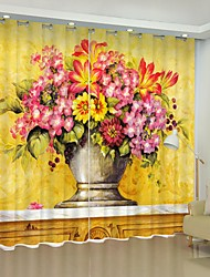 cheap -Digital Printing 3D Curtain Shading Curtain High Precision Black Silk Fabric High Quality Curtain