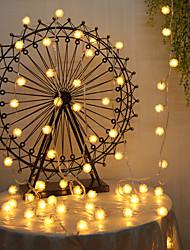 cheap -10m Flexible LED Light Strips String Lights 100 LEDs Cold White Warm White Decorative Christmas Wedding Decoration Creative 220 V 1pc