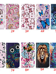 cheap -Case For Apple iPhone 11 / iPhone 11 Pro / iPhone 11 Pro Max Card Holder / with Stand / Flip Full Body Cases Animal / Flower PU Leather