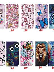 Недорогие -чехол для яблока iphone 11 / iphone 11 pro / держатель карты iphone 11 pro max / с подставкой / флип чехлы для тела животное / цветок искусственная кожа