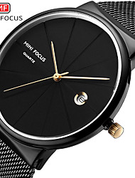 cheap -Men's Dress Watch Quartz Formal Style Modern Style 30 m Water Resistant / Waterproof Casual Watch Large Dial Analog Classic Fashion - Black Gold Blue