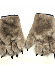 cheap -Wolf Gloves Halloween Props Men's Gloves Halloween Halloween Festival / Holiday Wistiti Brown Men's Women's Carnival Costumes