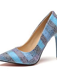 cheap -Women's Heels Stiletto Heel Pointed Toe PU Summer Orange / Blue