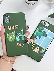 cheap -Plant Pattern TPU Case For Apple iPhone 11 Pro Max 8 Plus 7 Plus 6 Plus Max Pattern Back Cover
