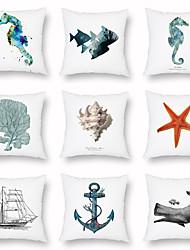 cheap -Marine Style Pillowcase Summer Light Sofa Pillowcase Digital Printing Home Decoration Pillowcase