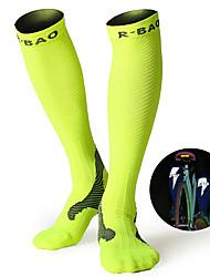 cheap -Compression Socks Athletic Sports Socks Running Socks 1 Pair Men's Women's Tube Socks Socks Long Socks Fitness, Running & Yoga Sports Running Sports Simple Cotton Chinlon Black White Fuchsia