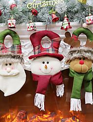 cheap -Christmas Decorations Old Man Snowman Elk Christmas Gift Small Pendant Plush Doll Christmas Tree Pendant Supplies 1PC