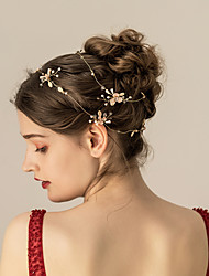 cheap -Crystal / Alloy Headbands / Headdress with Crystal / Rhinestone / Floral / Metal 1pc Wedding / Party / Evening Headpiece