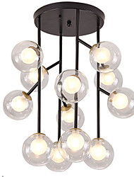 cheap -12 Bulbs 60 cm Mini Style / WIFI Control Flush Mount Lights Metal Glass Circle / Candle-style / Cluster Painted Finishes Modern / Nordic Style 110-120V / 220-240V