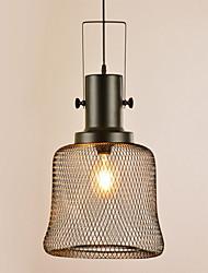 cheap -1-Light 32 cm Adorable Pendant Light Metal Globe Black Vintage / Traditional / Classic 220-240V