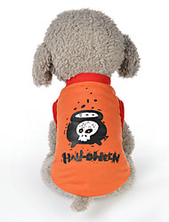 cheap -Dogs Dress Winter Dog Clothes Black Purple Orange Halloween Costume Polyster Quotes & Sayings Pumpkin Bow M