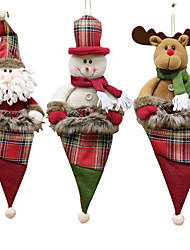 cheap -Christmas Decorations Old Man Snowman Elk Christmas Gift Small Pendant Plush Doll Christmas Tree Pendant Supplies 1PC