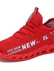 Недорогие -Мальчики Удобная обувь Сетка Спортивная обувь Большие дети (7 лет +) Беговая обувь Белый / Черный / Красный Лето