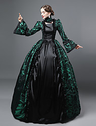 cheap -Queen Elizabeth Vintage Rococo Gothic Victorian 18th Century Dress Party Costume Masquerade Women's Lace Cotton Costume Purple / Green / Red Vintage Cosplay Party Prom Long Sleeve Floor Length Ball