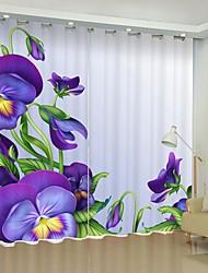 abordables -vent simple violet papillon numérique impression 3d rideau rideau d'ombrage haute précision noir tissu de soie rideau de haute qualité