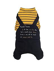 Недорогие -Собака Плащи Одежда для собак Черный Желтый Смешанные материалы Костюм Назначение Зима Муж. Жен. Водонепроницаемый