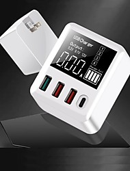 cheap -USB and PD Charger A9T 4 Desk Charger Station LCD Display / with Smart Identification / with Quick Charge 3.0 US Plug / EU Plug / UK Plug Charging Adapter