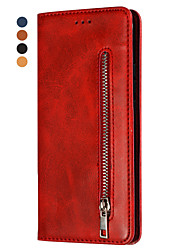 cheap -Case For Apple iPhone XS / iPhone XR / iPhone X Wallet / Card Holder / Flip Full Body Cases Solid Colored PU Leather / TPU