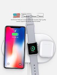 abordables -chargeur sans fil 3 en 1 chargeur rapide sans fil dock tapis pour airpods / iphone 11/11 pro / xr / xs / 8/8 plus et samsung et huawei et apple watch series