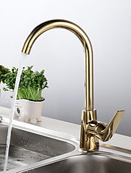cheap -Kitchen faucet - Single Handle One Hole Electroplated Standard Spout Free Standing Contemporary Kitchen Taps