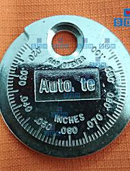 Недорогие -1pc свеча зажигания манометр инструмент измерения типа монеты 0.6-2.4 мм диапазон свечи зажигания
